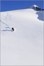 Gallery Print  Snowboarder in den Chugach Mountains - Dan Bailey