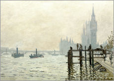 Wandsticker  Themse vor Westminster - Claude Monet