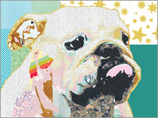 Gallery Print  Bulldogge Collage - GreenNest