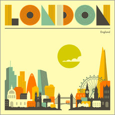 Wandsticker London Skyline