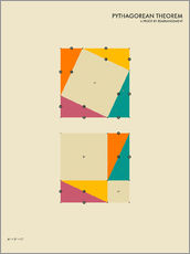 Wandsticker  Pythagorean Theorem - Jazzberry Blue