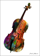 Wandsticker  Cello - Mark Ashkenazi