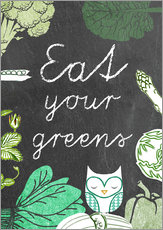 Gallery Print  Eat your greens - GreenNest