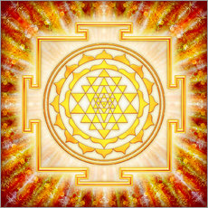 Wandsticker Sri Yantra – Artwork Licht