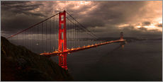 Wandsticker  Golden Gate mystisch braun - Michael Rucker