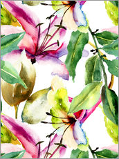Gallery Print  Lilien in Aquarell
