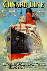 Wandsticker  Cunard Line ? Liverpool, New York, Boston - Edward Wright