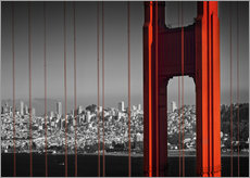 Gallery Print  Golden Gate Bridge im Detail - Melanie Viola