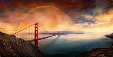 Wandaufkleber  Frisco Golden Gate Rainbow - Michael Rucker