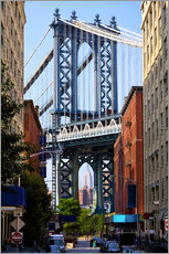 Wandsticker  Manhattan Bridge und Empire State Building