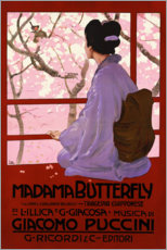 Holzbild  Puccini, Madame Butterfly - Leopoldo Metlicovitz
