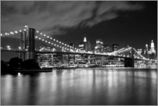 Gallery Print  Brooklyn Bridge ? Nachtszene