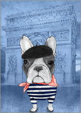Gallery Print  Frenchie Mit Arc De Triomphe - Barruf