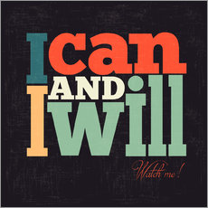 Gallery Print  I can and i will - Typobox