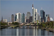 Gallery Print  Skyline Frankfurt am Main Shining Morning - Frankfurt am Main Sehenswert