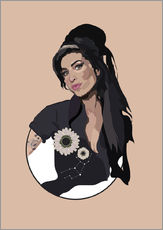 Wandsticker  Amy Winehouse - Anna McKay
