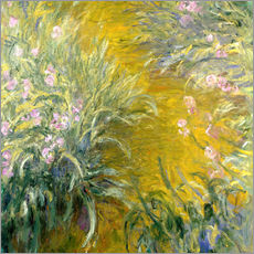 Wandsticker  Iris - Claude Monet