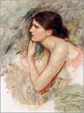 Wandsticker  Studie zu die Zauberin - John William Waterhouse