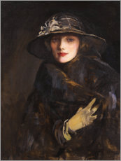 Hartschaumbild  Lady Gwendoline Churchill - Sir John Lavery