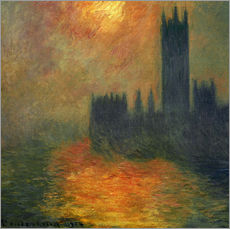 Wandsticker  Parlament - Claude Monet