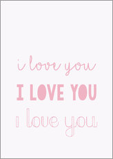Gallery Print  I love you - Ich liebe dich, pastel - Finlay and Noa