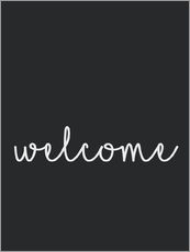 Gallery Print  Welcome - Willkommen - Finlay and Noa