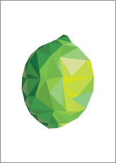 Gallery Print  Polygon Limette - Finlay and Noa