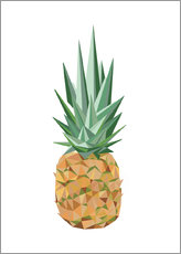 Wandsticker  Polygon Ananas - Finlay and Noa