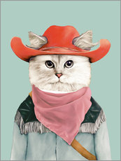Gallery Print  Rodeo Cat - Animal Crew