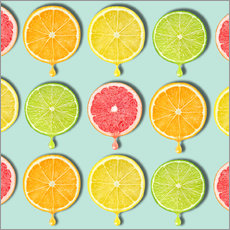 Wandsticker  coloring fruit - Mark Ashkenazi