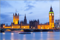 Gallery Print  Big Ben und Westminster Bridge in London