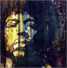 Wandsticker  Hendrix : Winds Cry Mary Retro - Paul Lovering Arts