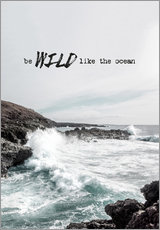 Wandsticker  Wild like the ocean - Amy and Kurt