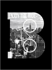 Gallery Print  Enjoy the ride - Fahrrad - Nory Glory Prints