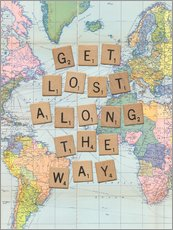 Wandsticker  Get lost along the way scrabble - Nory Glory Prints