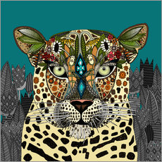 Wandsticker  Leopard Königin  - Sharon Turner