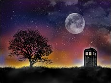 Wandsticker  Tardis, Doctor Who - Golden Planet Prints