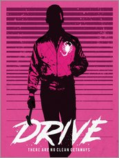 Gallery Print  Drive Ryan Gosling Filmposter - Golden Planet Prints