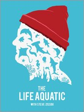 Wandsticker  The life aquatic with Steve Zissou (Englisch) - Golden Planet Prints