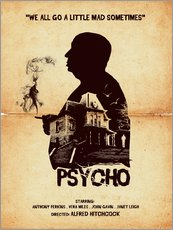 Wandsticker  Psycho (Englisch) - Golden Planet Prints