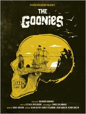 Wandaufkleber  The Goonies movie inspired skull never say die art - Golden Planet Prints