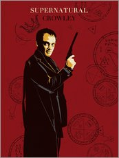 Gallery Print  Crowley, Supernatural - Golden Planet Prints