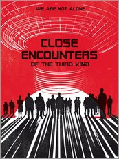 Gallery Print  Close encounters of the third king movie inspired art - Golden Planet Prints