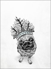Gallery Print  Indian Pug - LouJah