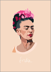Wandsticker Frida Portrait
