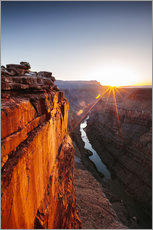 Gallery Print  Schöner Sonnenaufgang am Grand Canyon und Fluss Colorado, USA - Matteo Colombo