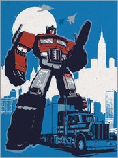 Wandsticker  alternative optimus prime retro transformers art - 2ToastDesign