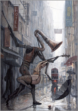 Gallery Print  Life is a dance in the rain - Adrian Borda