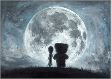 Wandsticker  In my dreams you always bring me to the Moon - Adrian Borda