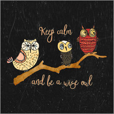 Gallery Print  Keep calm and be a wise owl - UtArt